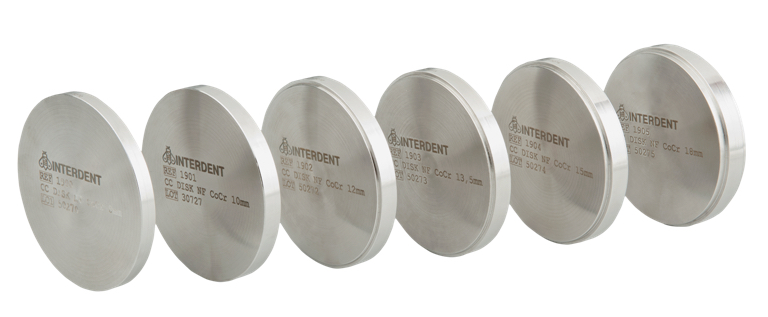 Disc for CAD/CAM system, based on CoCr