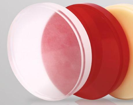 Wachs Ronden (farblos und rot)