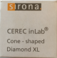 CEREC INLAB CONE-shaped BUR 12 - Diamond XL - 6ST